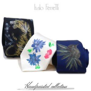 Handpainted ties by Italo Ferretti